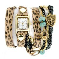 Наручные часы La Mer Collection Leopard Goth Mixed