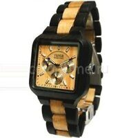 Деревянные наручные часы Tense Square Walnut Two Tone Multi Eye Watch B7305WM LF