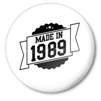 Значок Made in 1989