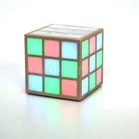 Колонка Cube LED light C 329 gold