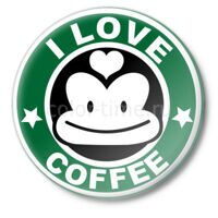 Значок I love coffee