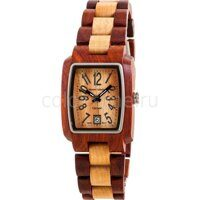 Деревянные Наручные часы Tense Sandalwood & Maple Two Tone Rectangular Mens Watch J8102SM