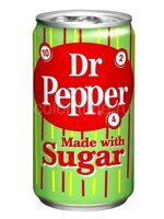 Напиток газированный Dr Pepper Made with Imperial Cane Sugar Retro Green 355 мл. США